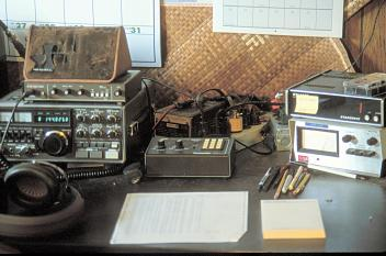 Closeup of K7XC EME Stn